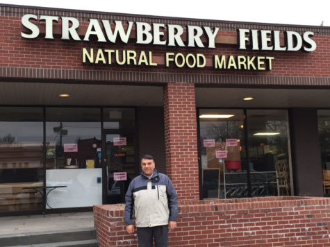 Mohammad Al-Heeti, owner of World Harvest International and Gourmet Foods, stands in front of Strawberry Fields as its new owner.