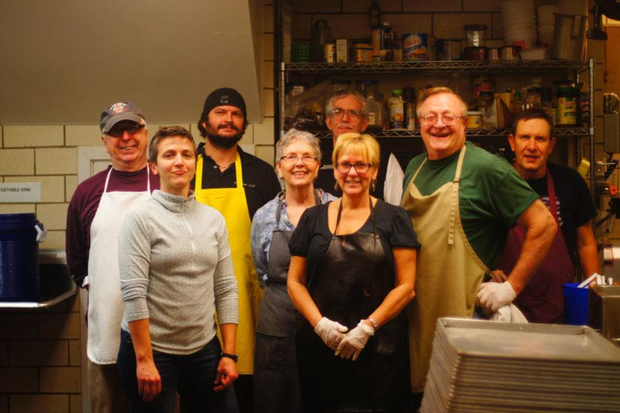 Ellen+McDowell+%28center%29+stands+with+a+group+of+volunteers+as+the+director+of+the+Daily+Bread+Soup+Kitchen+of+35+years.