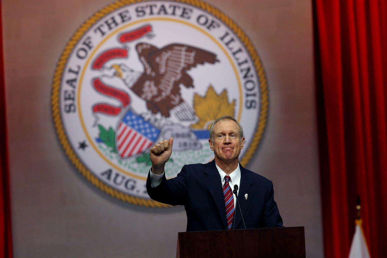 The Illinois House overrode Gov. Bruce Rauner's veto of a state budget on Thursday. The state has its first budget since 2015.