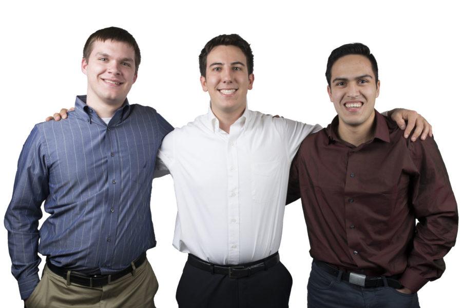 Portrait of Team Illini (Sean Ebihara, Ivan Villamar and Patrick Regan)