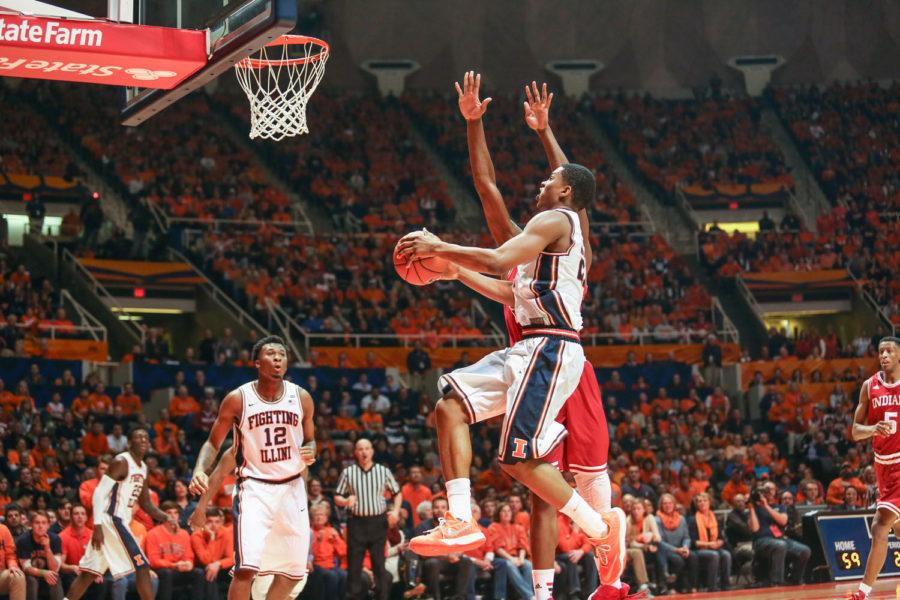 Malcolm Hill has emerged as a leader and point-scorer for the Illini men's basketball in the absence of Rayvonte Rice and Aaron Cosby.