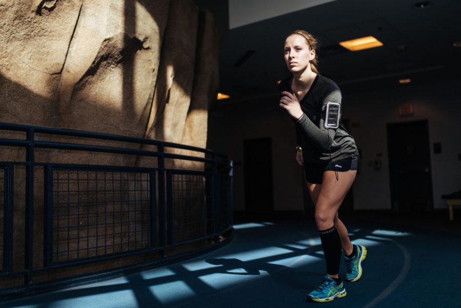 Magdalena+Wierzchucki+prepares+for+the+Christie+Clinic+Illinois+Marathon+in+April.