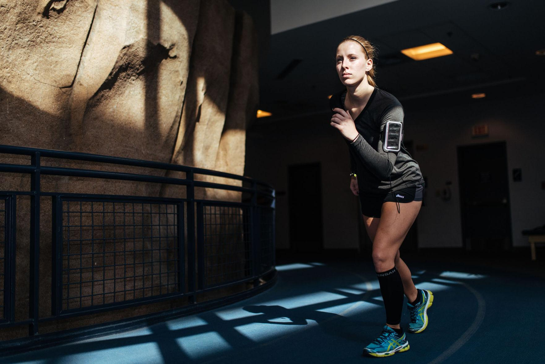 Magdalena Wierzchucki prepares for the Christie Clinic Illinois Marathon in April.