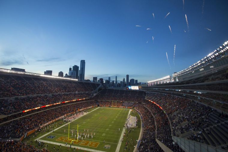 Fireworks+shoot+over+Soldier+Field+in+Chicago+during+the+Illinois+vs.+Washington+football+game%2C+which+was+the+last+time+the+Illini+played+in+Chicago.+Illinois+signed+to+play+Northwestern+at+Soldier+Field+three+times+during+the+next+five+seasons.