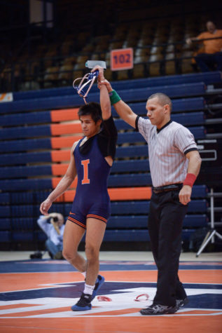 Illinois wrestling's Delgado will go for three-peat at nationals