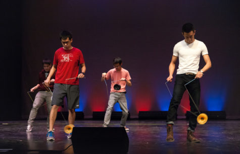 TASC Special Ops rehearses before the team's performance at Filipino Culture Night on Feb. 7.