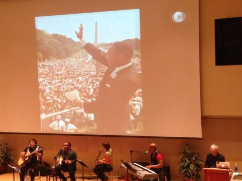 Ken Paulson plays a slideshow of photographs from American history as The Beatle's