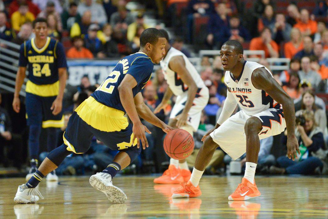 Michigan+crushed+a+timid+Illinois+squad+at+United+Center+in+Big+Ten+tournament+action%C2%A0Thursday%2C+effectively+ending+the+Illini%E2%80%99s+NCAA+tournament+hopes.