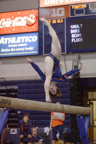 Illinois women's gymnastics takes first at Big Five Meet