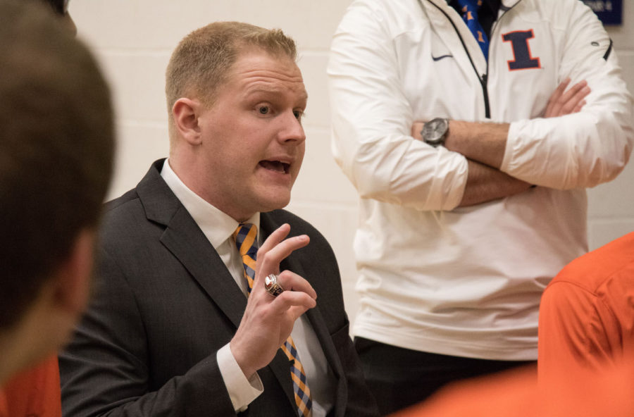 Illinois%27+head+coach+Matt+Buchi+talks+with+his+players+during+a+time-out+at+the+wheelchair+basketball+game+vs.+Missouri+at+the+ARC+on+Feb.+13.%26nbsp%3B