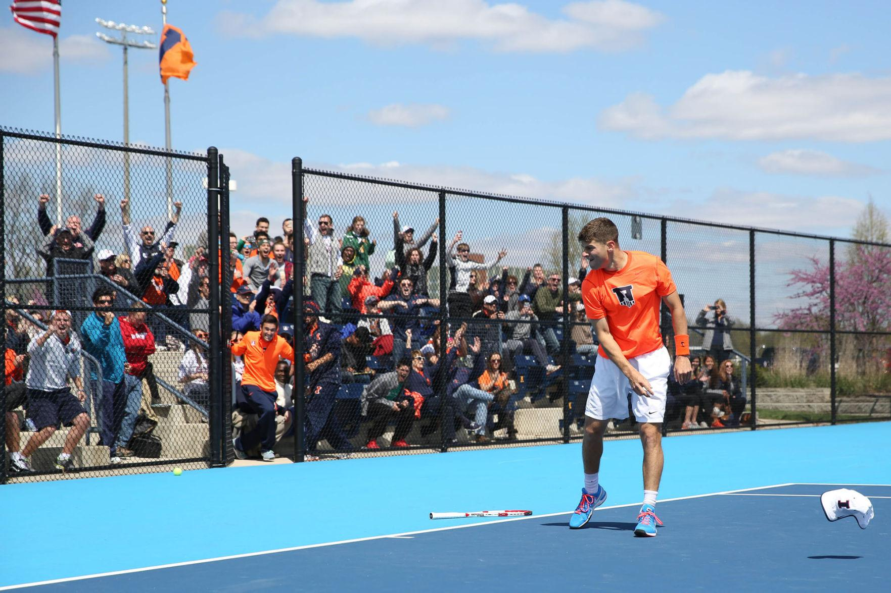 Illini+men%E2%80%99s+tennis+finished+its+sweep+of+the+Buckeyes+in+front+of+the+home+crowd+for+its+first+Big+Ten+Tournament+title+since+2012.