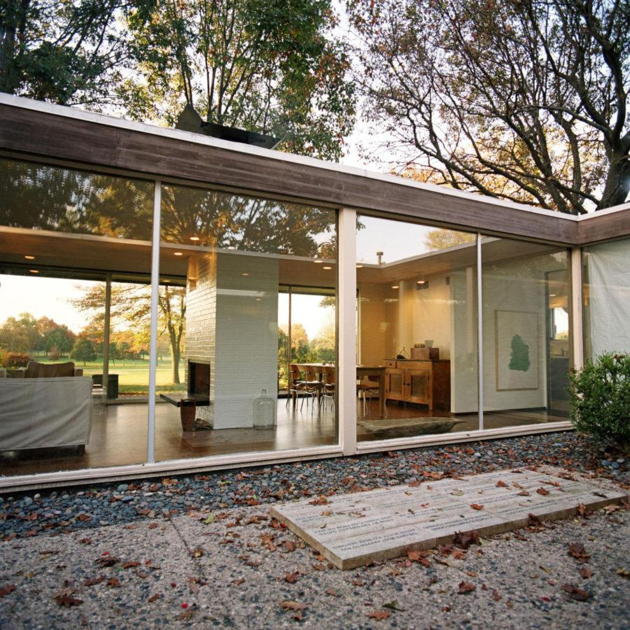 This 1967 residence in Urbana was designed by the late CU-based architect John Replinger, who was a 35 year employee at the University. The structure is the subject of Phillip Kalantzis-Cope's photos in the Krannert Art Museum's exhibit,