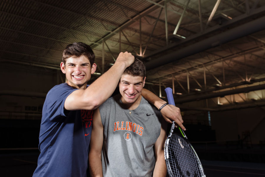 Illinois+men%E2%80%99s+tennis%E2%80%99+Hiltzik+brothers+push+each+other+to+new+heights