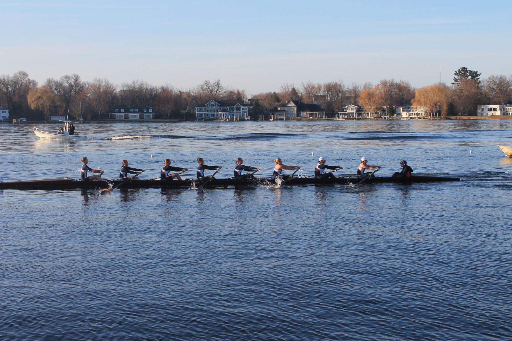 The Illinois women's rowing team compete in the Lubbers Cup in Michigan.