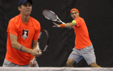 Illini men's tennis returns home to defend perfect conference record