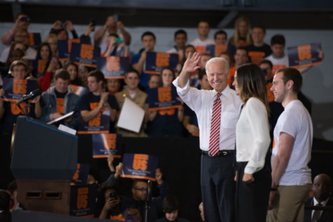 Vice President Joe Biden spoke to University students at Campus Recreation Center East on Thursday about the