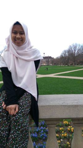 Fera Mohamad, senior in LAS, will be returning to her home country of Malaysia after graduating in May.
