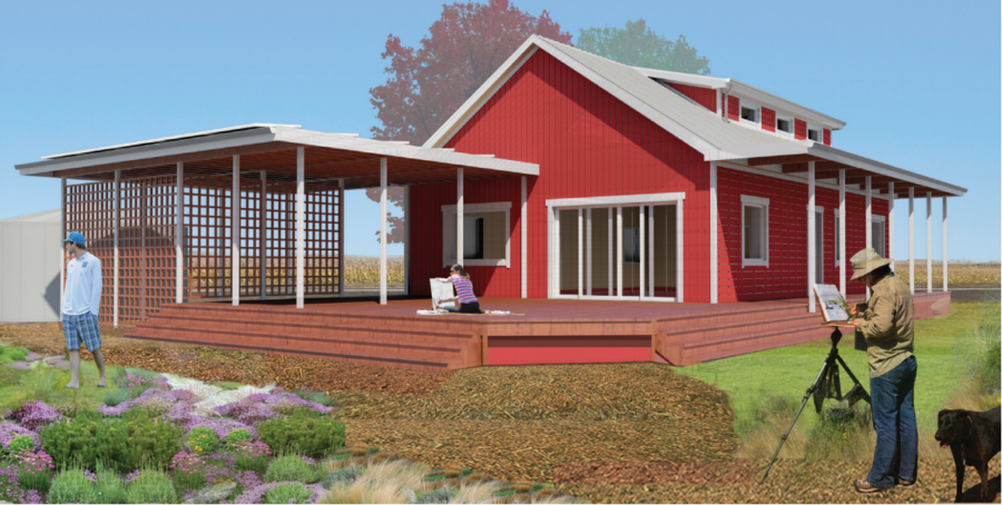 A rendering of Team Illinois'cottage. The cottage is being created as part of the Race to Zero competition.