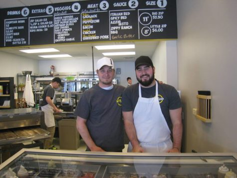Business partners Blake Kolker (left) and Brad Niemeier (right) will open a new Azzip Pizza location in Campustown in August.