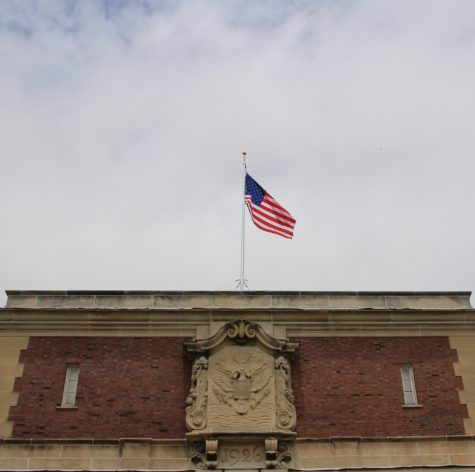 On Tuesday morning, Old Glory was raised on the south side of the Armory. The flag hadn't flownfor forty years after being dismissed in the 1970s for unknown reasons.