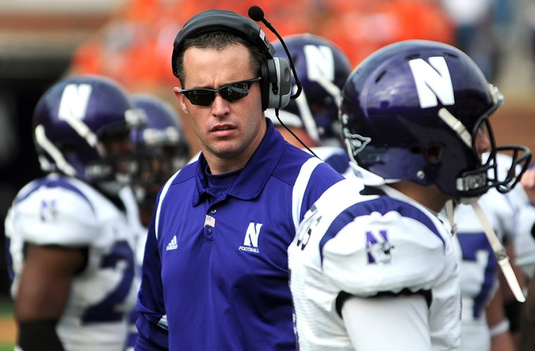 Northwestern+head+coach+Pat+Fitzgerald+stands+on+the+sidelines+during+the+game+against+Illinois+at+Memorial+Stadium+on+Nov.+14%2C+2009.%C2%A0