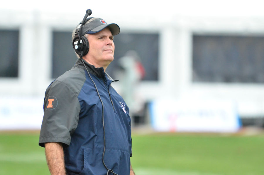 Tim+Beckman+is+in+his+fourth+year+as+Illini+football+head+coach.+Last+season%2C+he+led+the+Illini+to+their+first+bowl+game+since+2011.+The+Illini+finished+the+season+with+a+6-7+overall+record.