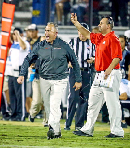 Rutgers coach Kyle Flood reacts during second-quarter action against Central Florida at Bright house Networks Stadium in Orlando, Fla. Thursday, Nov. 21, 2013. UCF defeated Rutgers, 41-17. (Joshua C. Cruey/Orlando Sentinel/MCT)