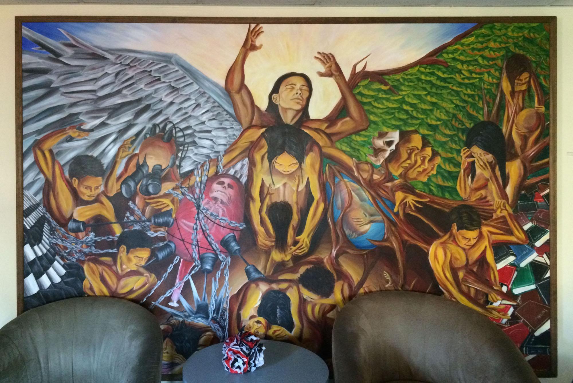 Cultural art is displayed around the La Casa Cultural Center. Students hope La Casa will begin funding La Carta again this semester.