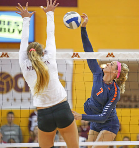 Illinois taken down in five set thriller against Minnesota