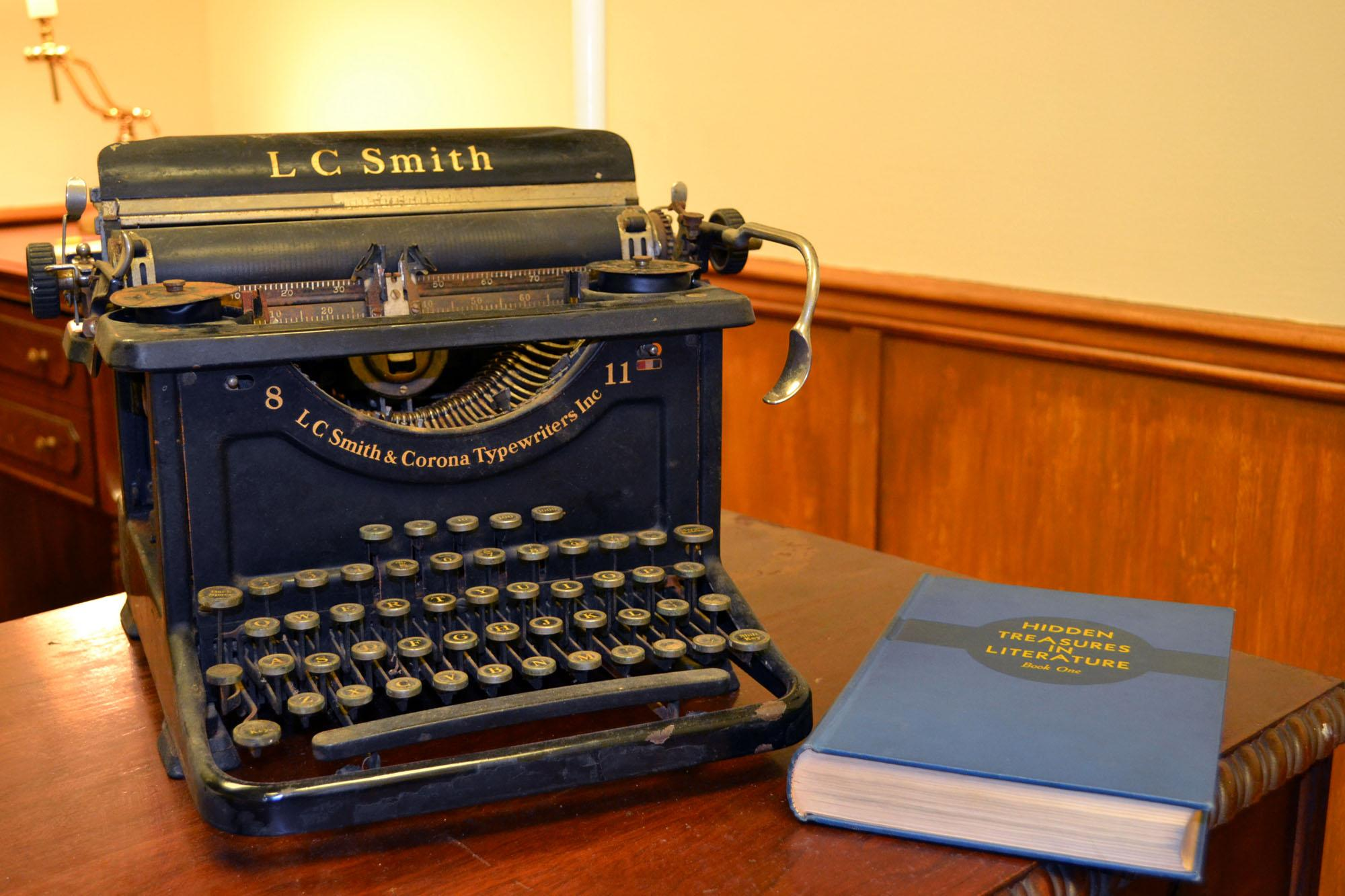 Upon walking into the first escape room at  Champaign-Urbana Adventures in Time and Space, teams will notice the professor's typewriter and copy of