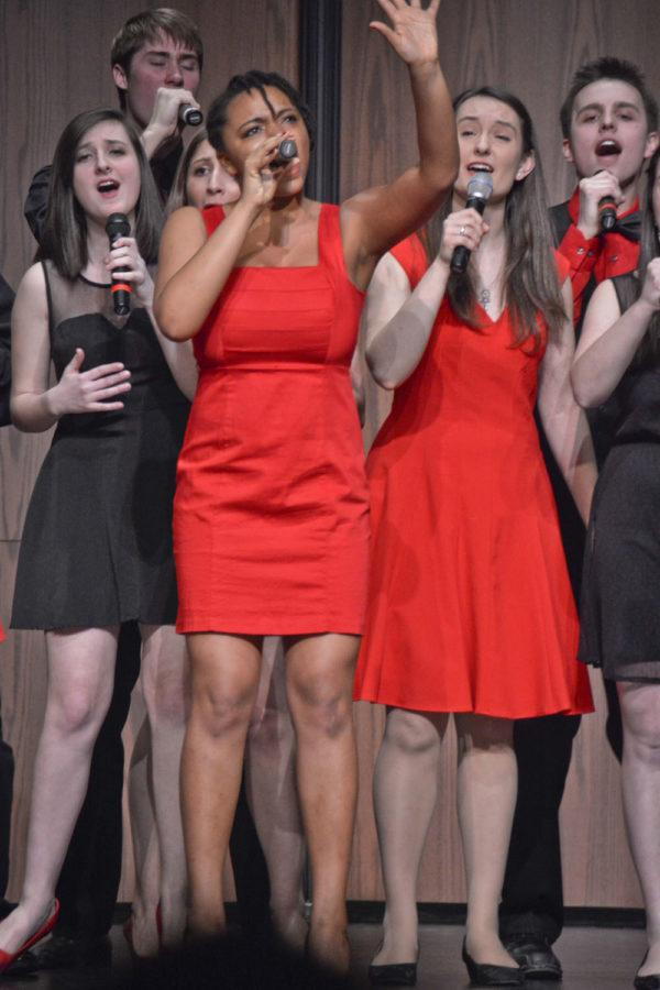 No Strings Attached A Capella (pictured) is one of nine groups performing at Acatoberfest. Kirsten Myles (center) performed with No Strings Attached at the International Championship of Collegiate A Cappella in 2014.