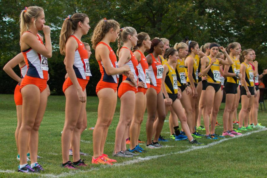 Illini's wating to start the race at the Illini Challenge 2015 at the Arboretum on September 4.