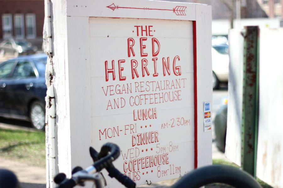Open Mic Area at Red Herring on April 10, 2015