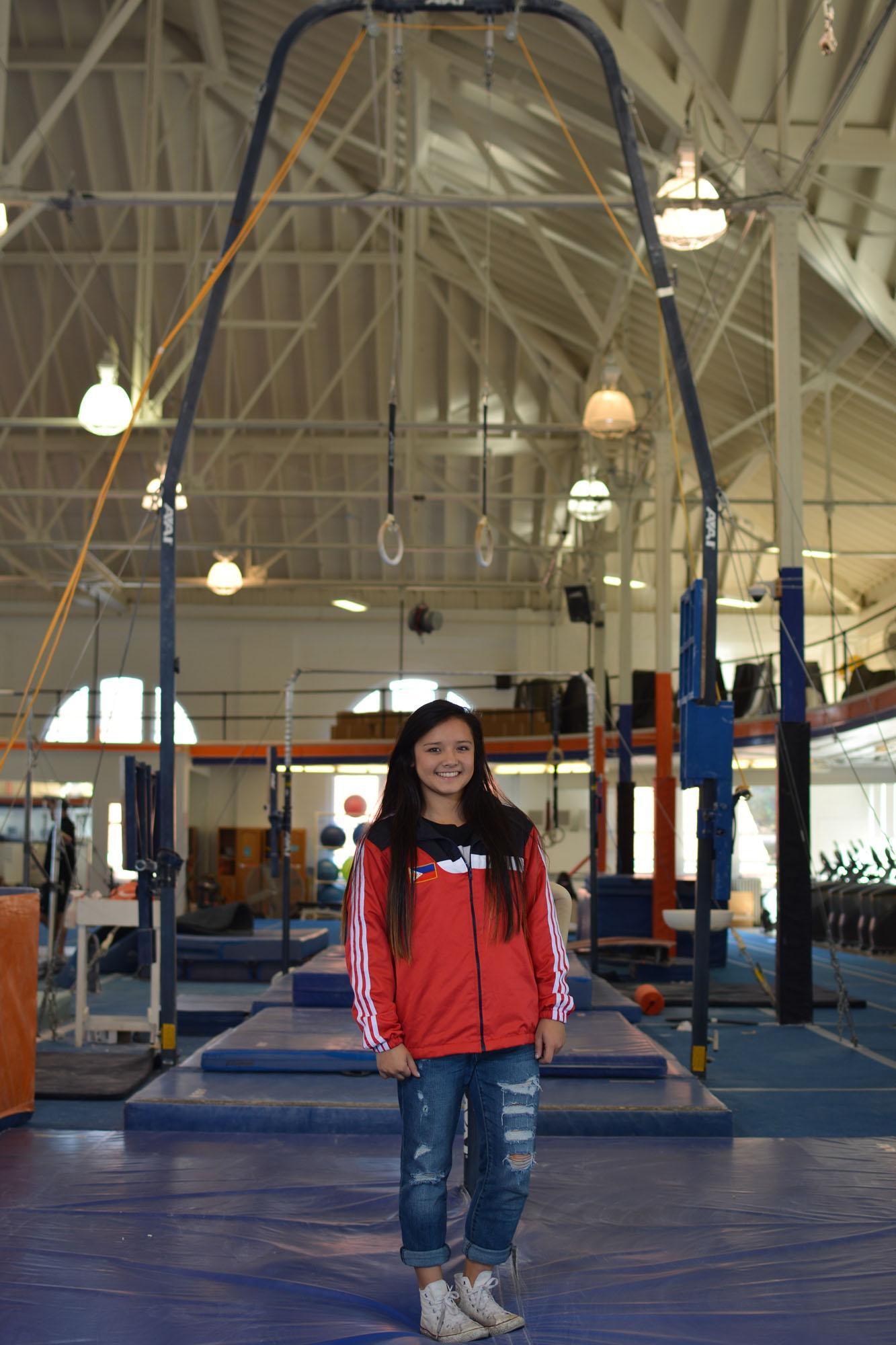 Freshman+gymnast+Lizzy+LeDuc+has+had+the+opportunity+to+compete+on+the+Philippine+National+Team+and+now+is+shooting+for+success+as+an+Illini.