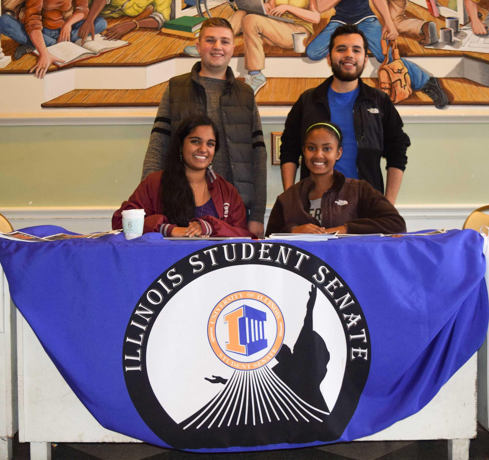 Matt Hill (top left), Moises Contreras (top right), Tara Chattoraj (bottom left), and Raneem Shamseldin (bottom right)