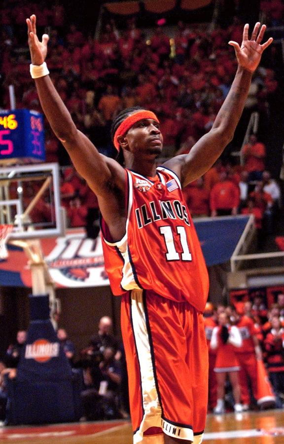 Dee Brown at Assembly Hallduring the 2005 season. TheDaily Illini file photo.