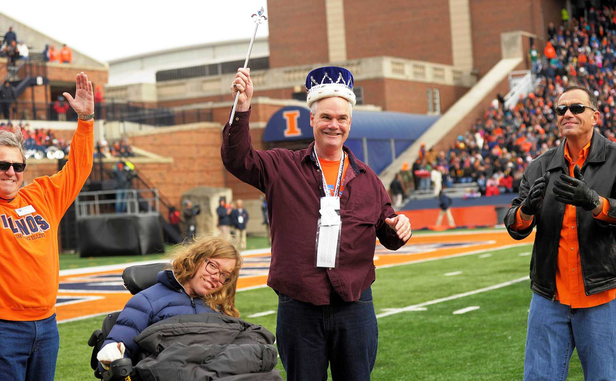 Christopher Downes was crowned King Dad at Memorial Stadium last year.