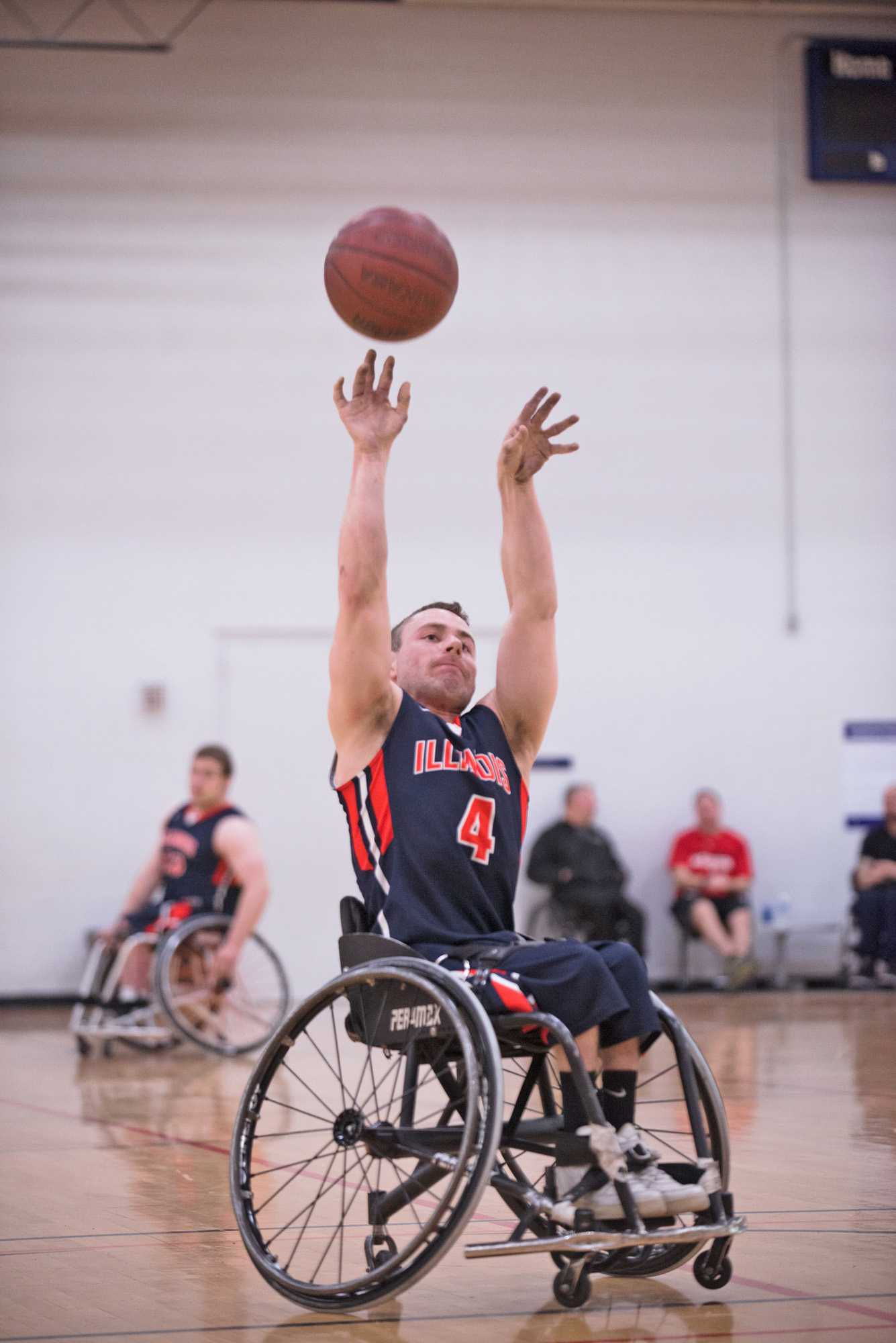 Illinois' Ryan Neiswender goes for a shot during the game against  Missouri at the Activities and Recreation Center on Friday, February 13, 2015.The Illini won 53-46.