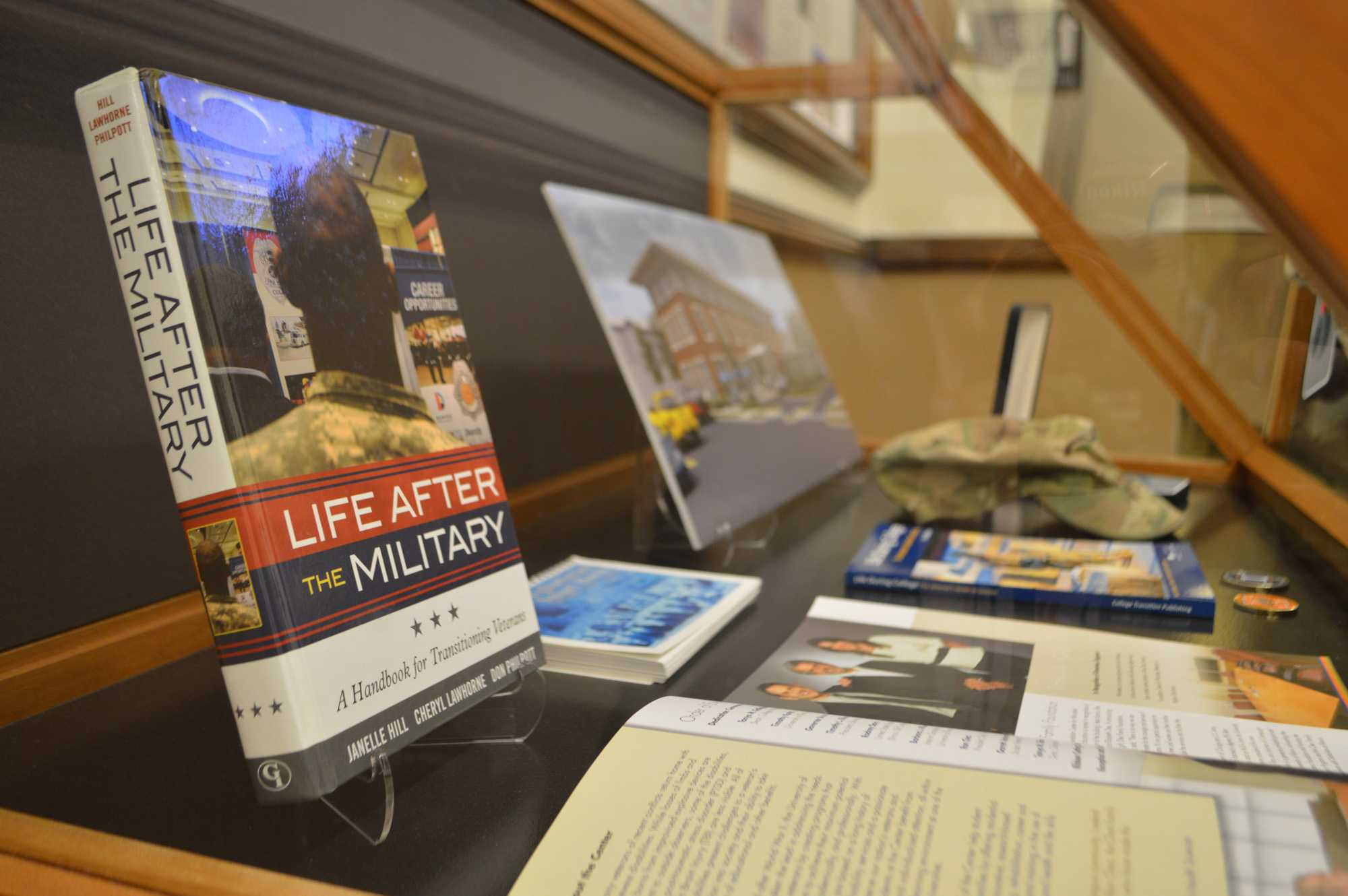In honor of Veterans' Day, a display called