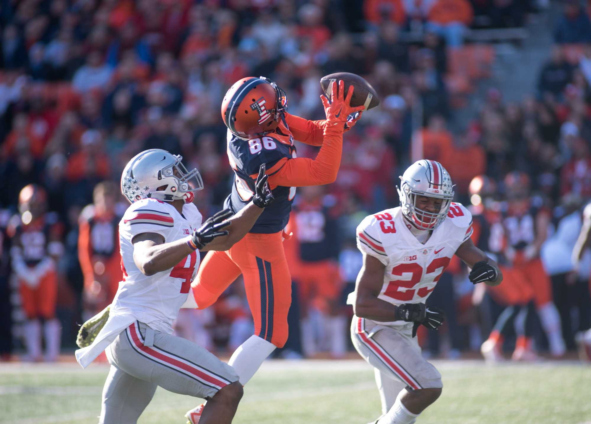 Illinois football will host seven home games in the fall