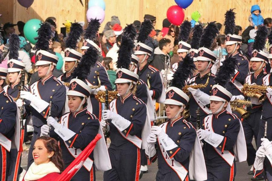 Marching Illini makes Macy's Day Parade debut