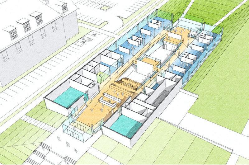 Preliminary conceptualization of the Design Center.