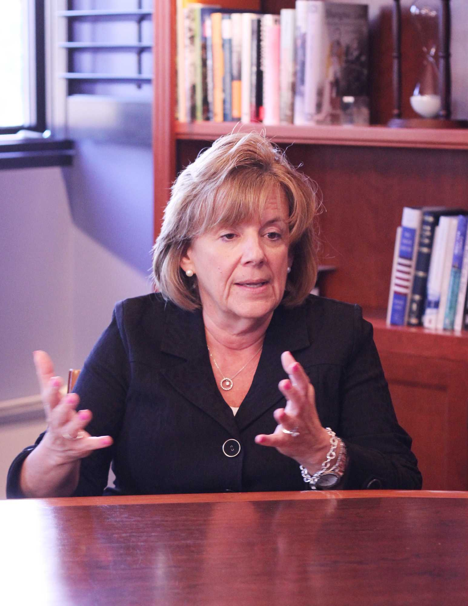 Chancellor Barbara J. Wilson talking about her career on October 7, 2015.