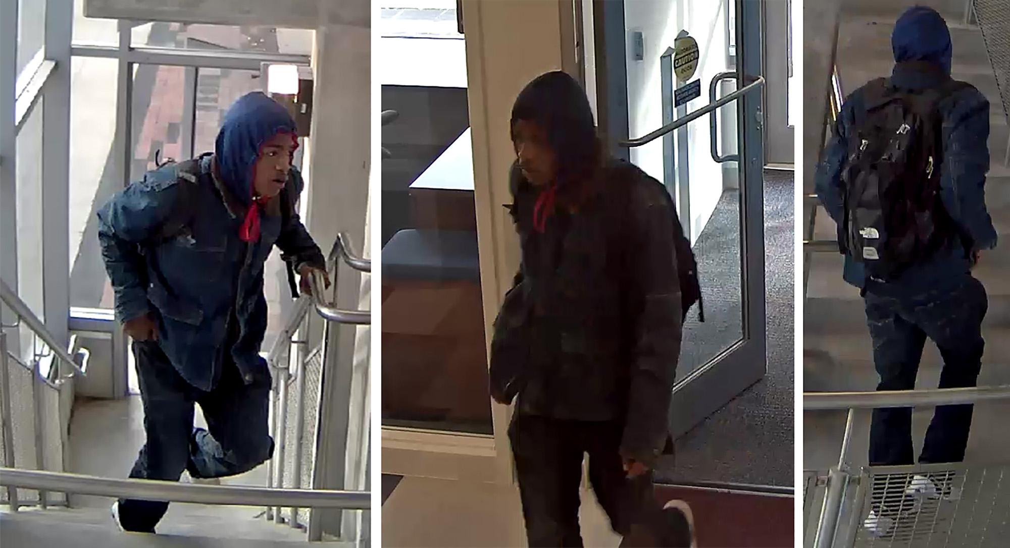 Police are looking for the man pictured in this Nov. 24 security camera footage from parking garage B-4, 405 N. Goodwin Ave., Urbana. He is believed to have been involved in at least two car break-ins.