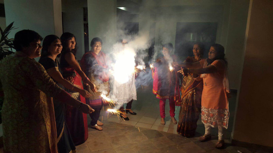Susan Koruthu, who is from Singapore, celebrates Diwali with her family. She said there are large numbers of Chinese, Indian and Malaysian people back home, who celebrate unique holidays and cultural traditions.