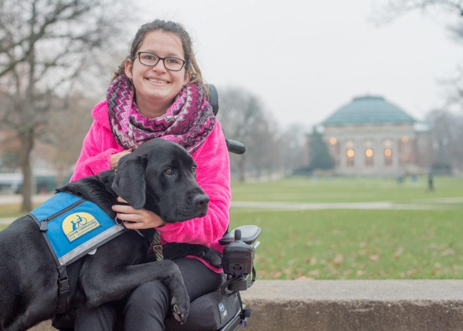 The challenges behind the service: University student reflects on life before, after service dog