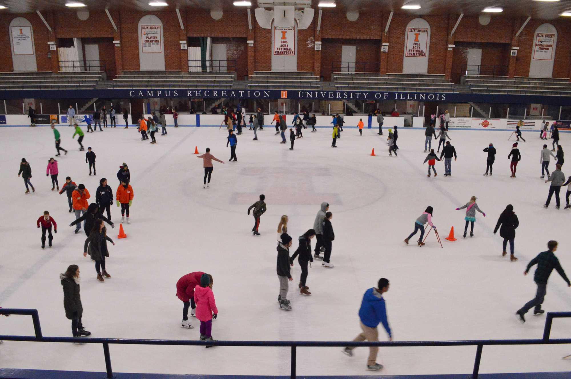 Many spend their Martin Luther King Jr. Day at the ice skating rink on Jan. 18, 2016.