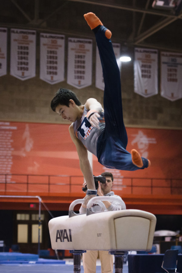 Illinois%27+Brandon+Ngai+performs+a+routine+on+the+pommel+horse+during+the+meet+against+Stanford+at+Huff+Hall+on+Friday%2C+March+6%2C+2015.The+Illini+lost+21-9.