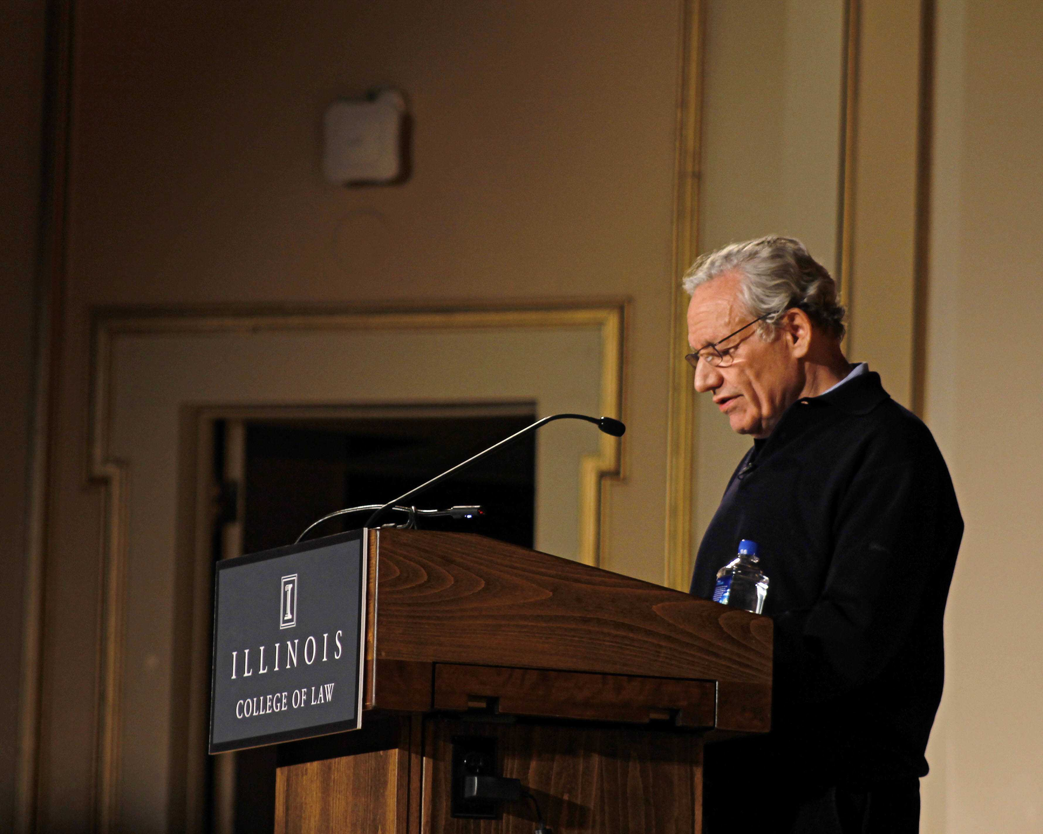 Pulitzer Prize Winning Reporter, Bob Woodward, giving the inaugural speech for