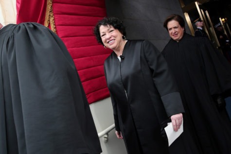 Supreme Court Justice Sonia Sotomayor arrives for the presidential inauguration on the West Front of the U.S. Capitol January 21, 2013 in Washington, DC.  Barack Obama was re-elected for a second term as President of the United States. (Win McNamee/Getty Images/MCT)